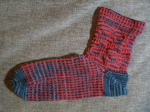 mosaic sock with afterthought heel