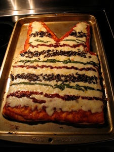 striped sweater pizza