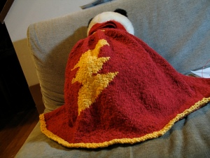 lightning bolt man cape finished!