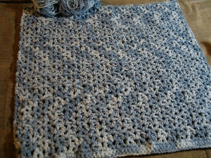 Middle of my crochet bath mat