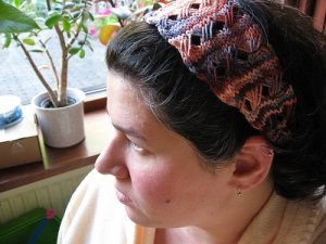 "knitting ""finished object"" ""dream swatch headwrap"" sonata ""wendy bernard"""