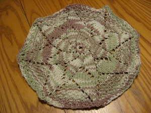 double flower dishcloth