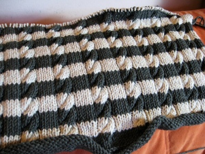 stripes and cables in progress