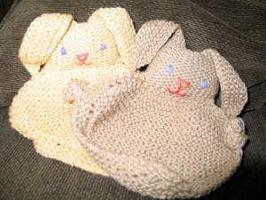 blanket bunnies for susanne's babies