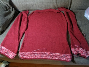 sweater in progress
