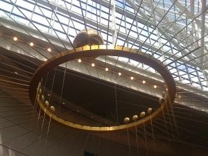 pendulum in the Oregon Convention Center