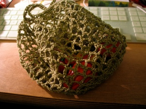 crochet toy grocery bag