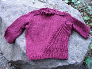 finished avery sweater